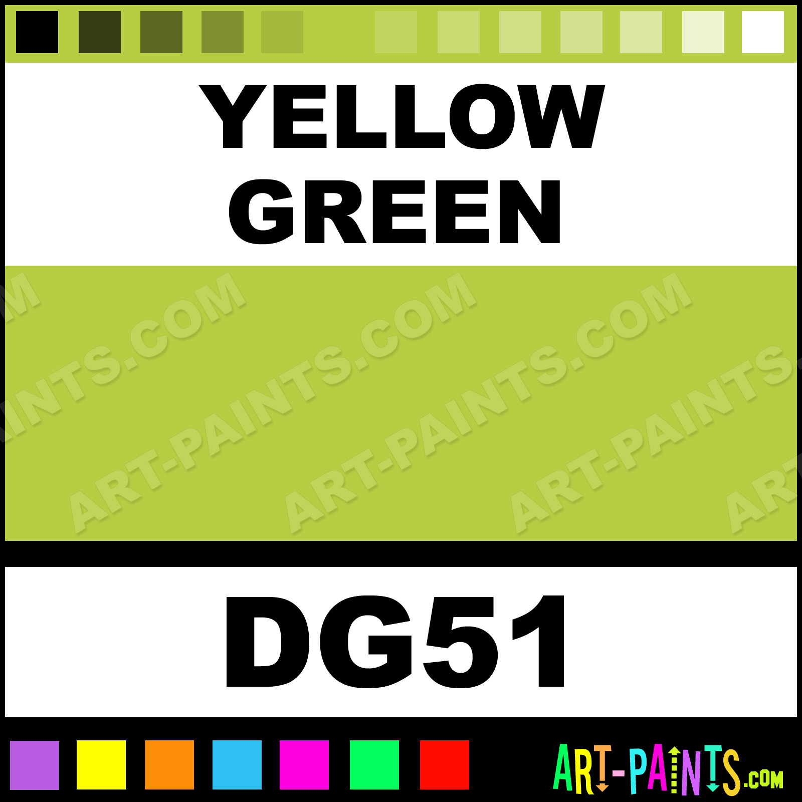 Yellow Green Acrylic Enamel Paints - DG51 - Yellow Green Paint ...