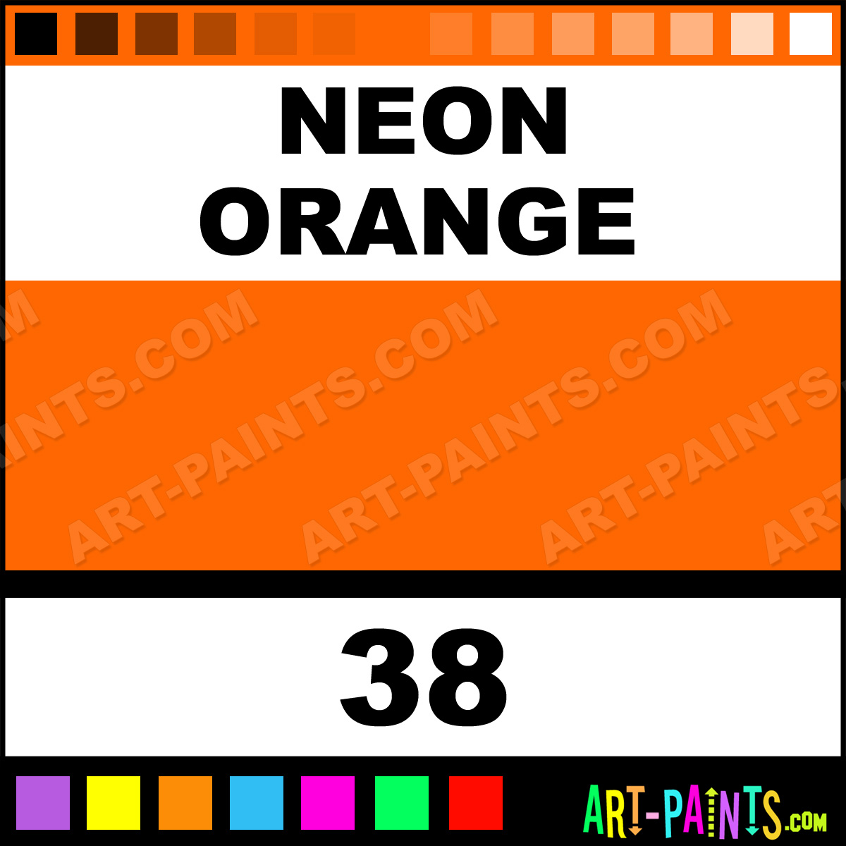 Code For Neon Orange On Laptop Paint
