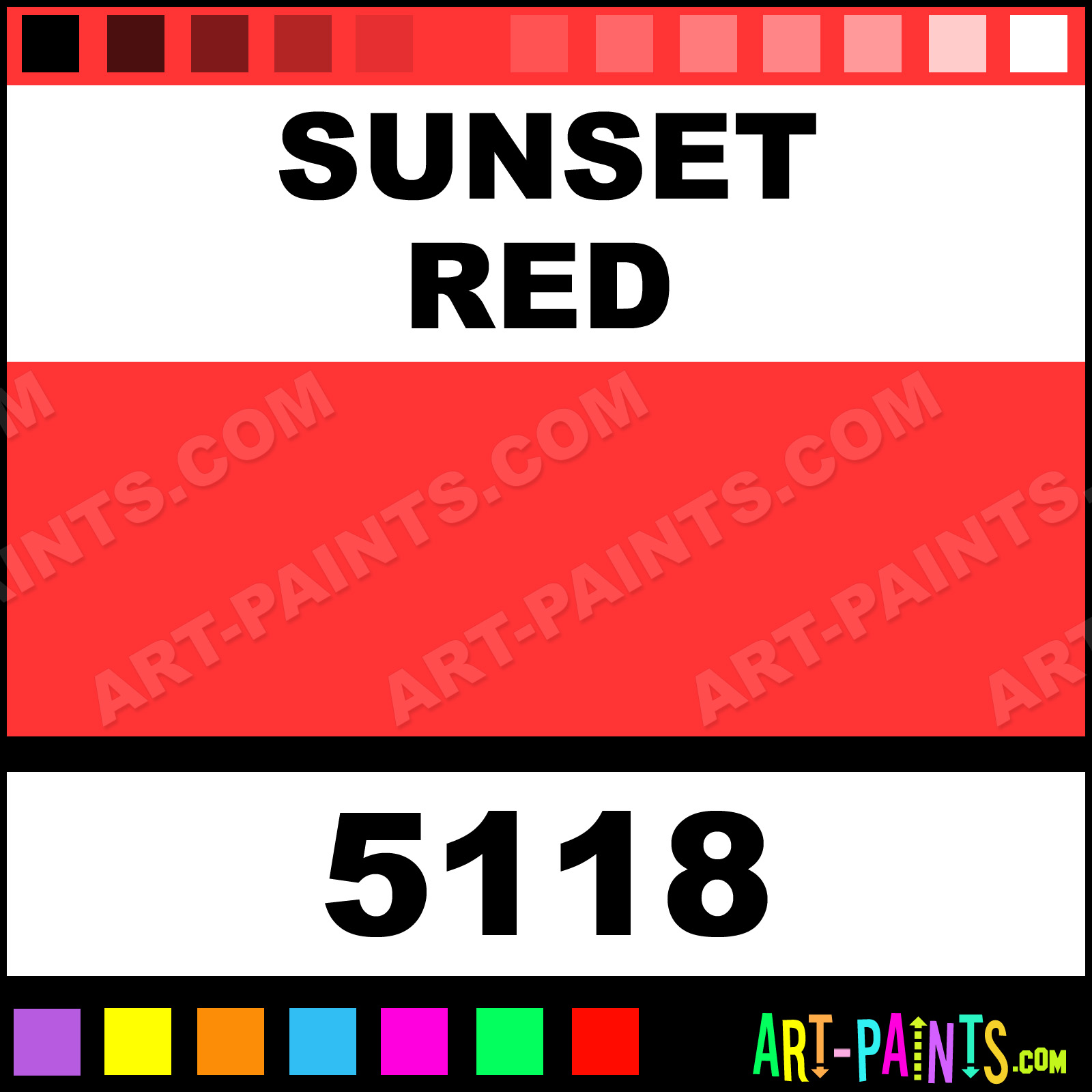 Sunset Red Paint