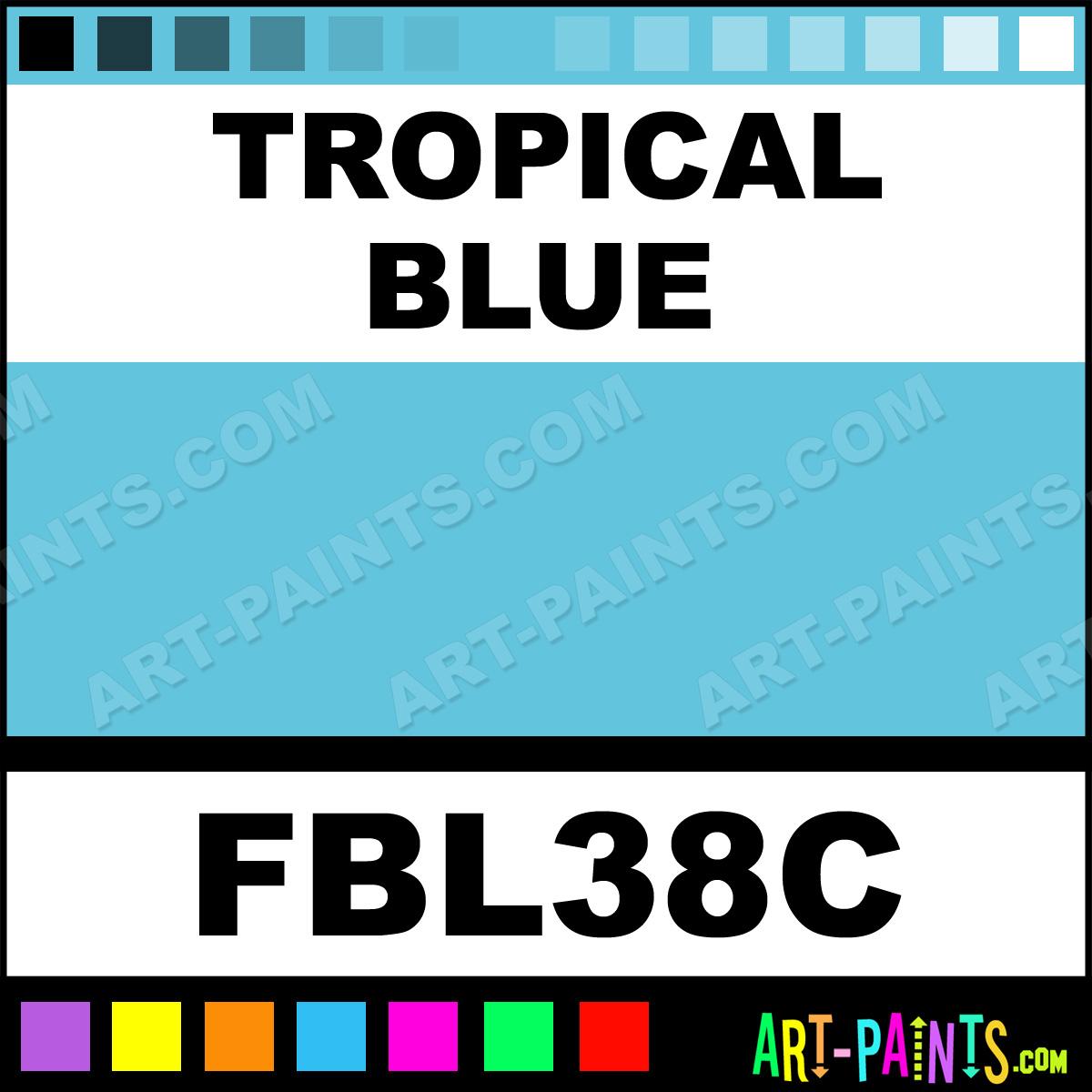 Tropical blue fashion beadz fabric textile paints fbl38c for Tropical paint colors