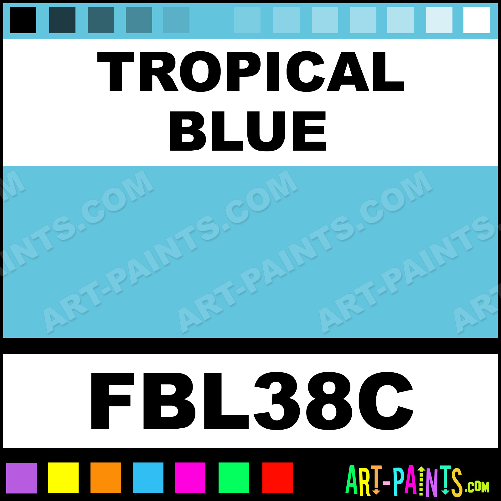 Tropical Blue Paint