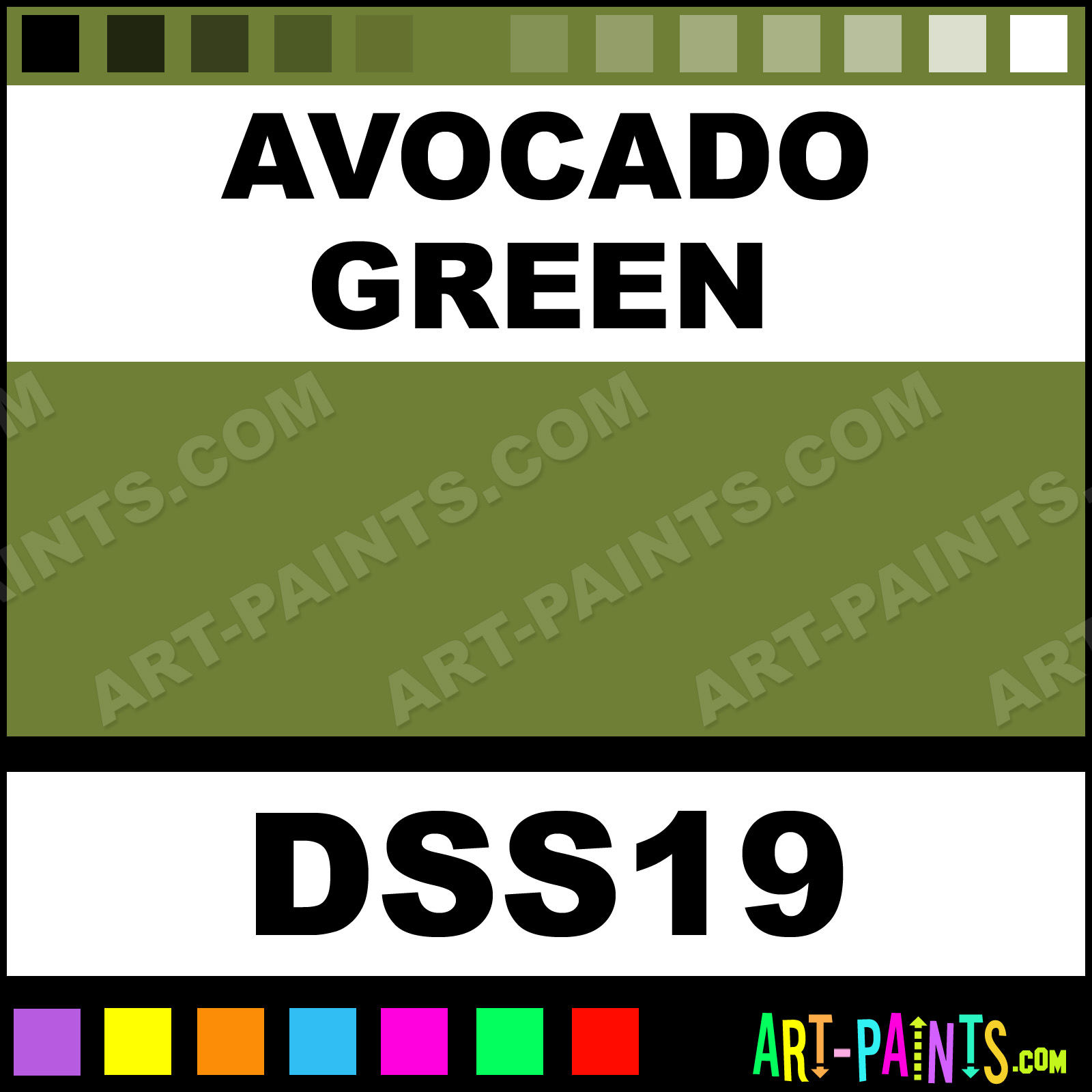 Avocado Green SoSoft Fabric Acrylics Fabric Textile Paints - DSS19 ...