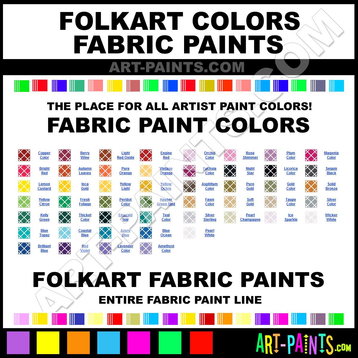Folk art acrylic paint color chart - Please Note That The Art