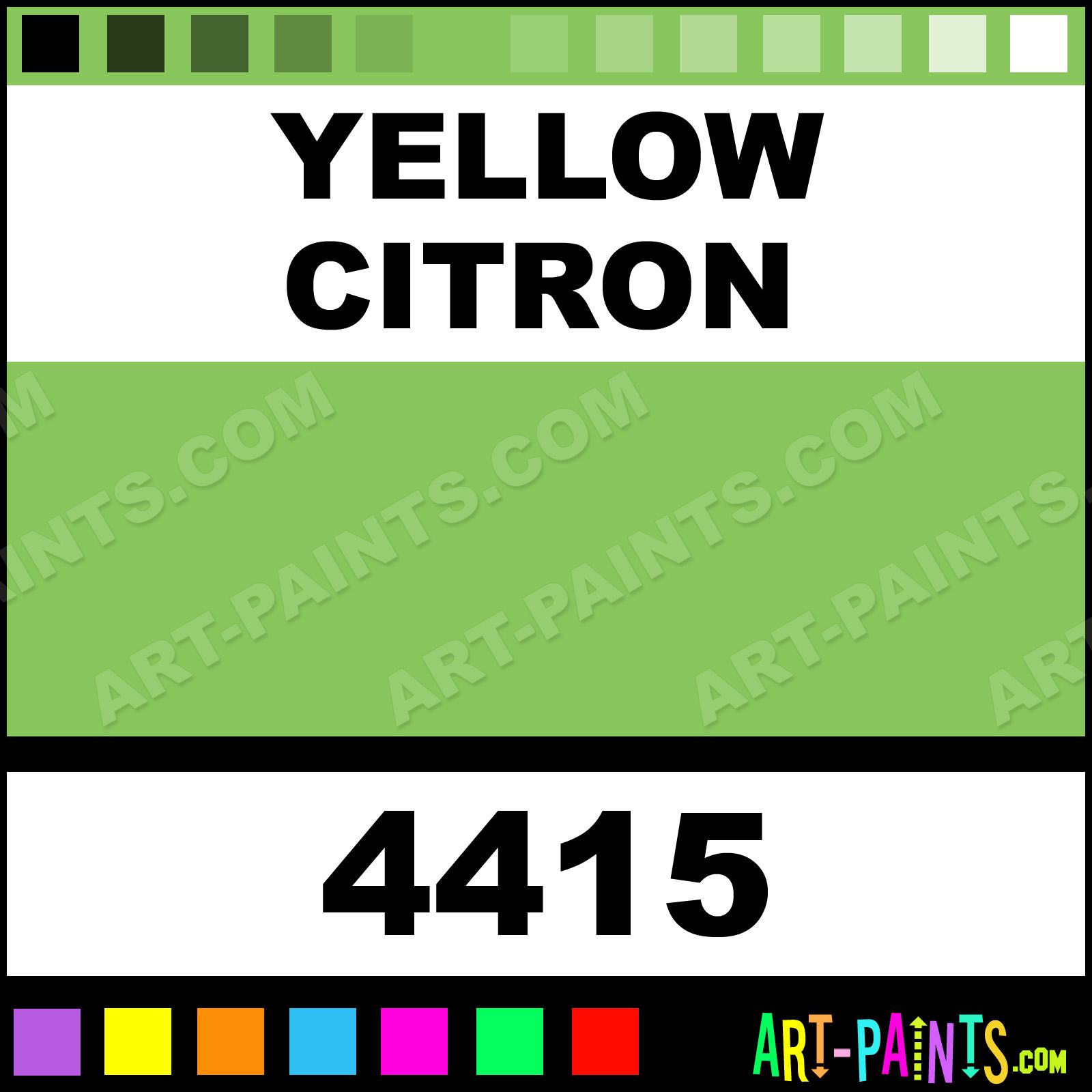 Citron Yellow Paint Code