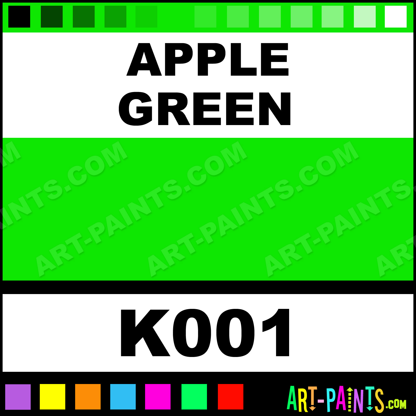 Lime green paint colors - Apple Green Deluxe Kit Fabric Textile Paints K001 Apple Green