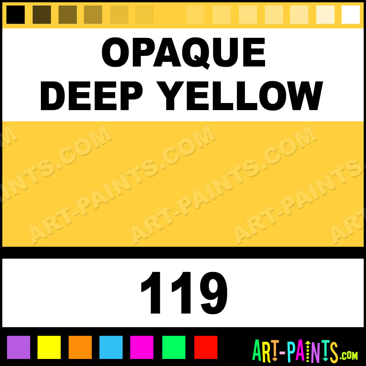 Opaque Deep Yellow Idea Stoffa Fabric Textile Paints 119