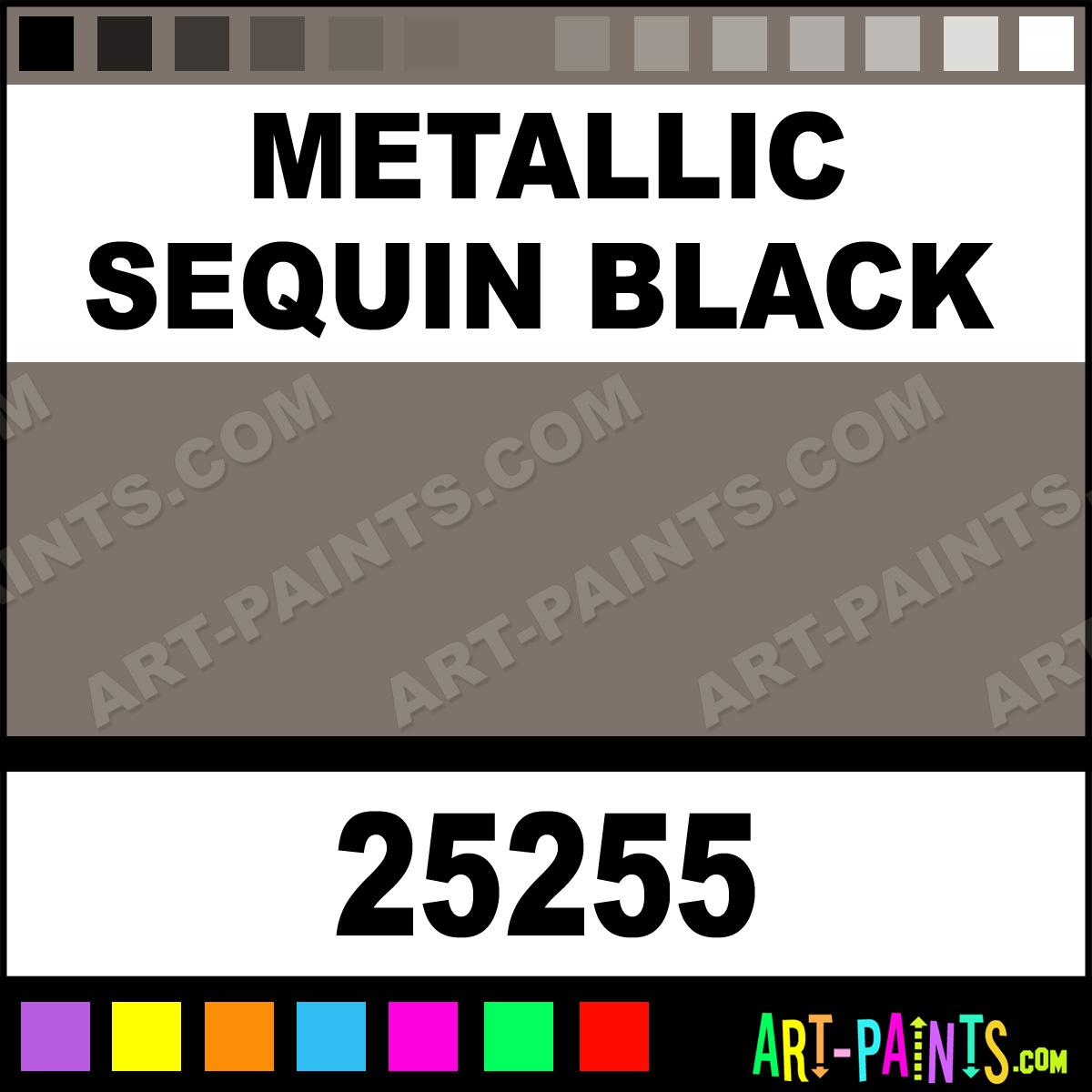 Plaid Fashion Dimensional Fabric Paint Metallic Sequin Black