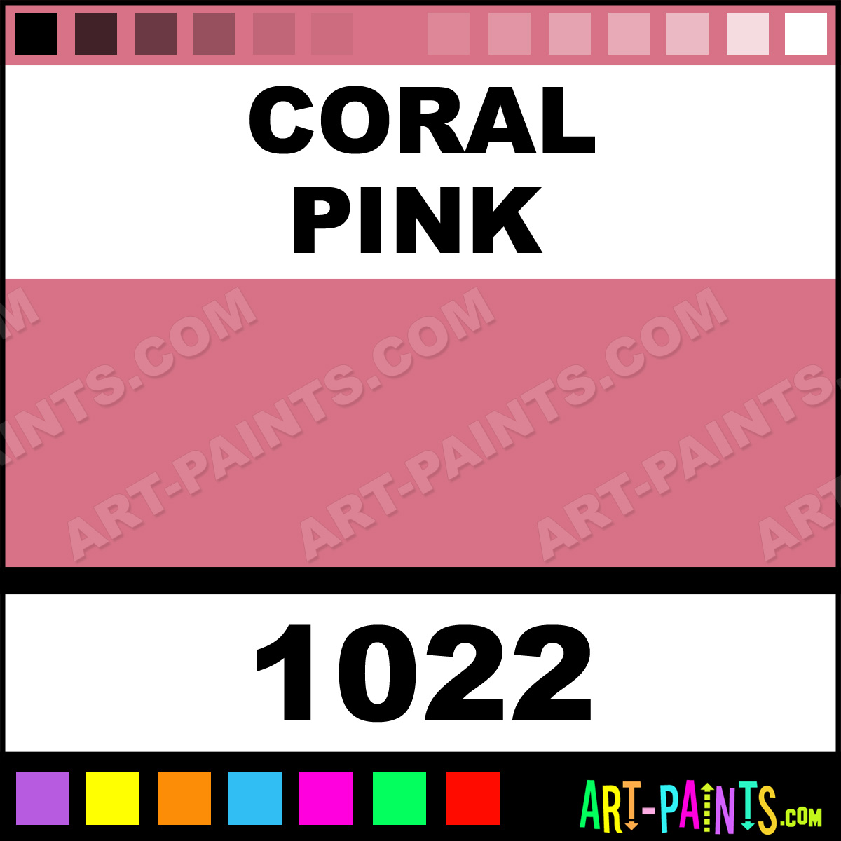 Coral Pink Marker Fabric Textile Paints