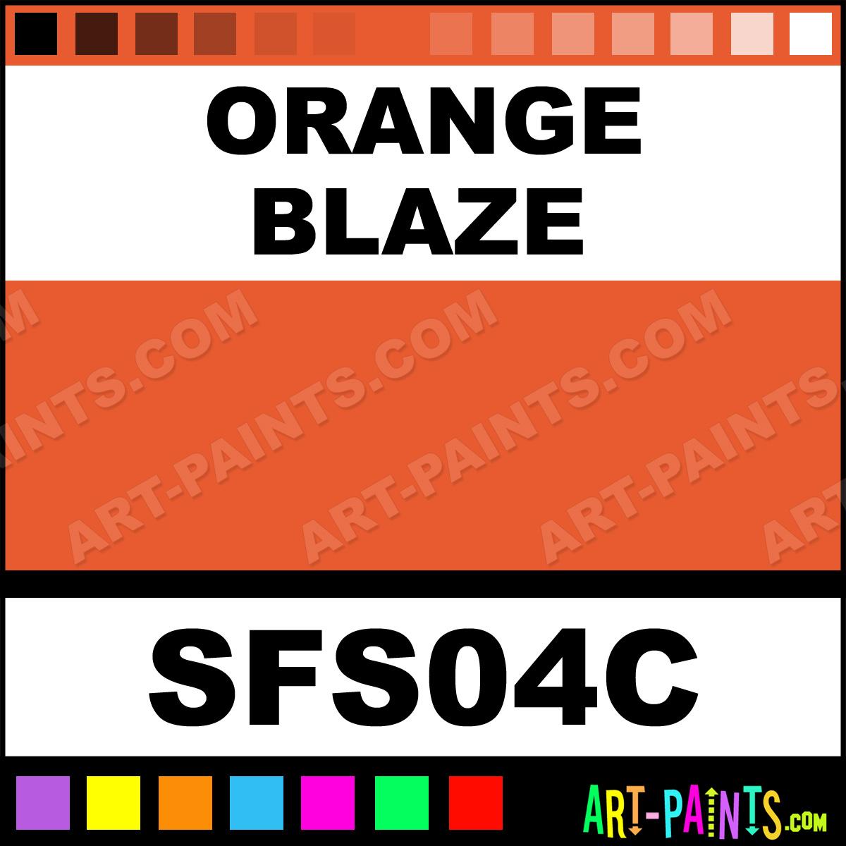 Orange Blaze Fashion Sequins Writer Fabric Textile Paints