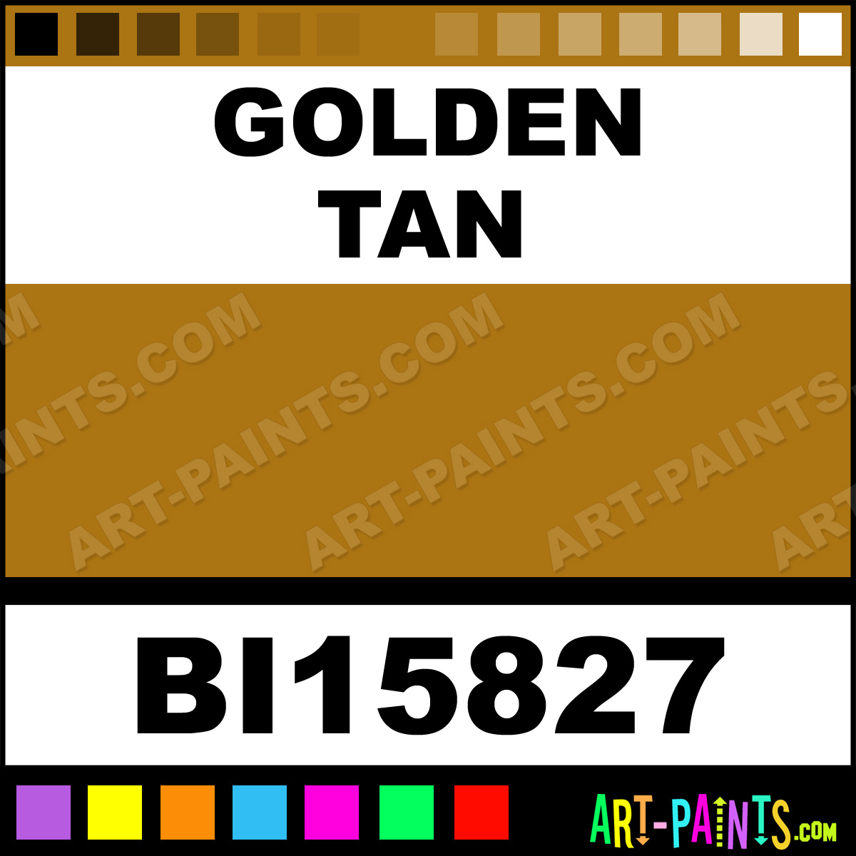 Golden Tan Soft Matte Fabric Textile Paints Bi15827