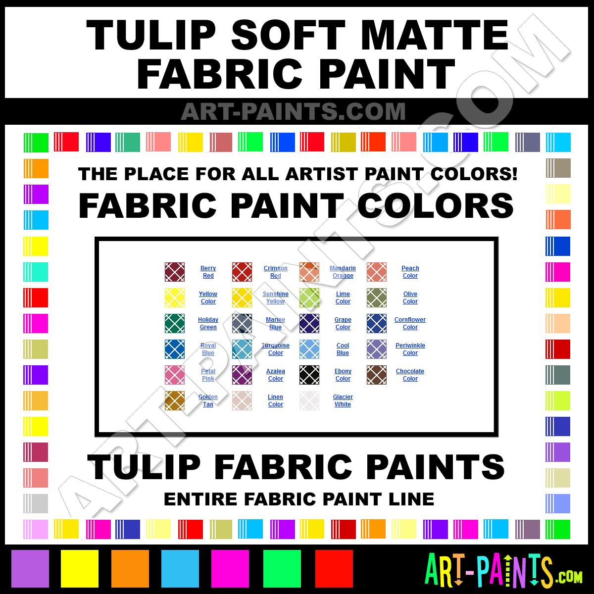 Tulip soft fabric paint color chart