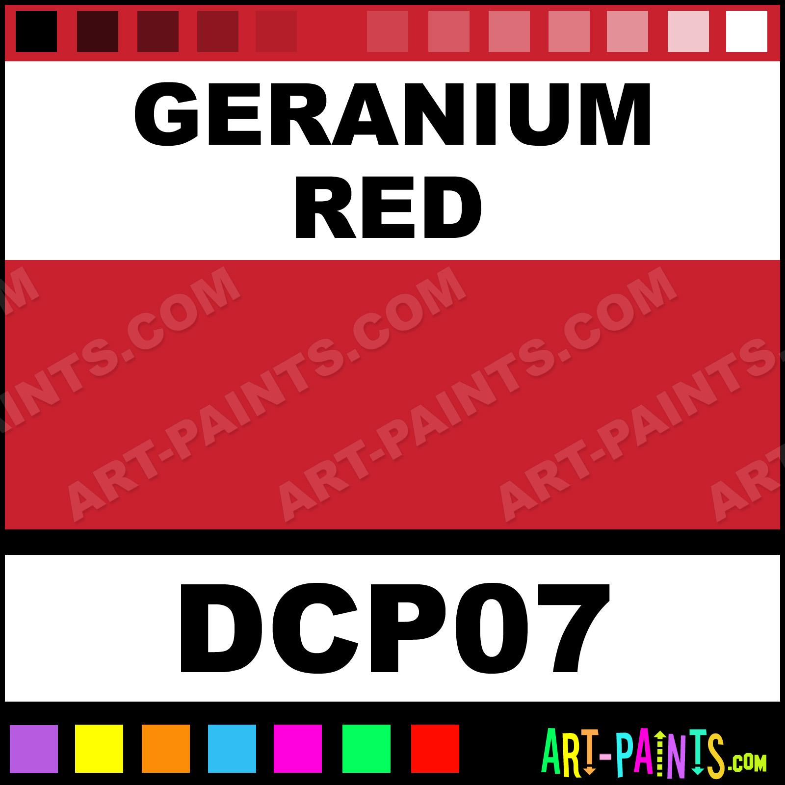 Geranium Red Paint