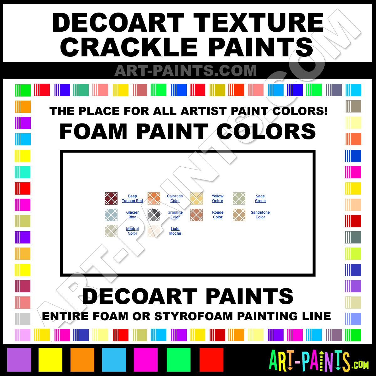Crackle Paint Color Samples