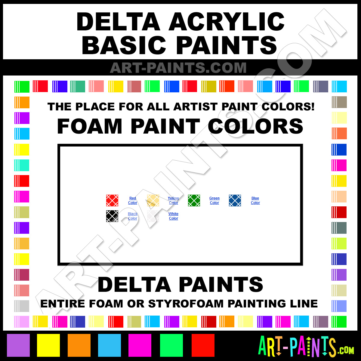 Black Acrylic Basic Foam And Styrofoam Paints 109705