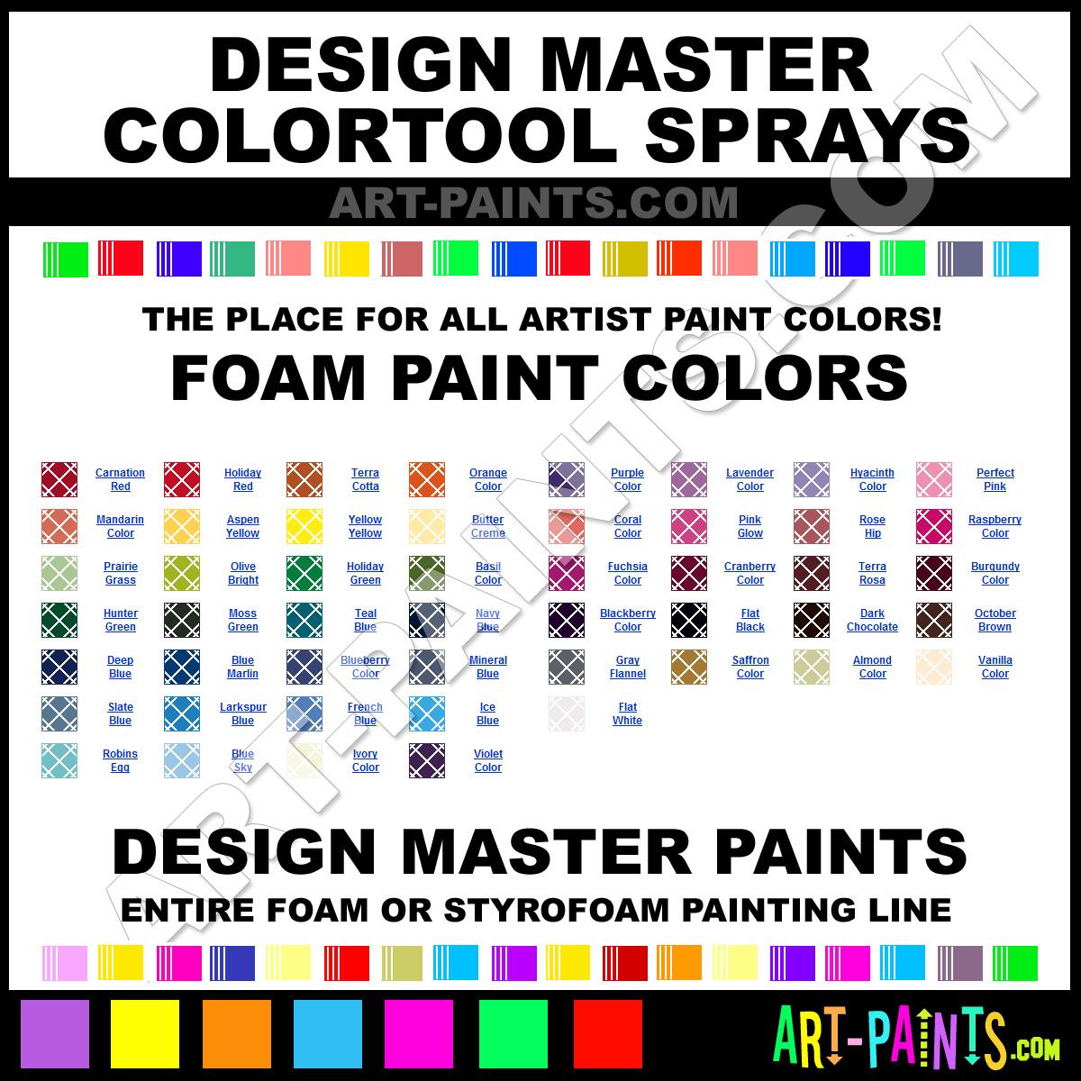 Blackberry Colortool Sprays Foam And Styrofoam Paints