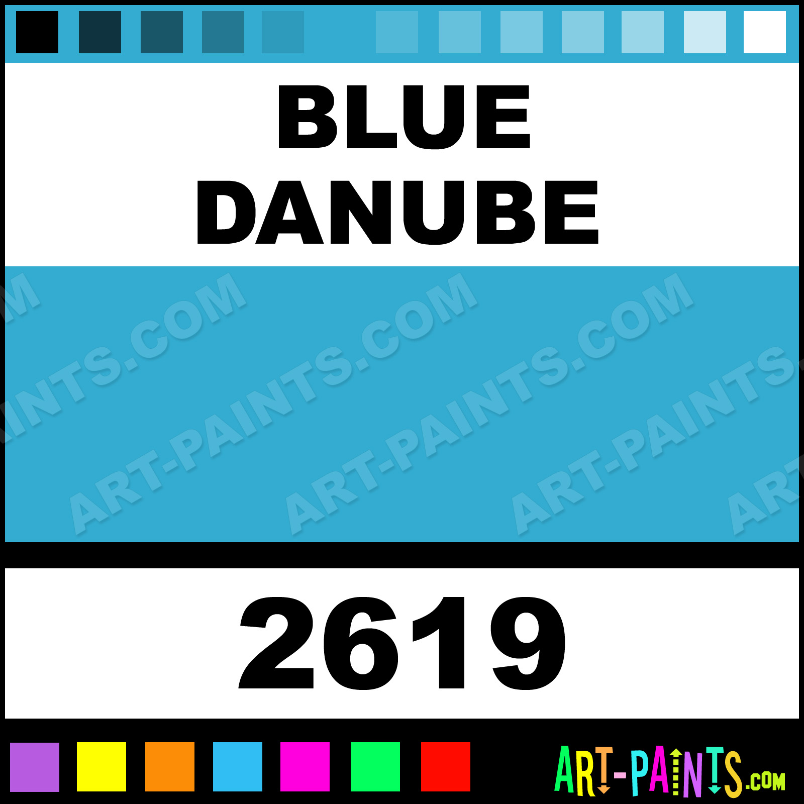 Painting Blue Foam Blue Danube Paint
