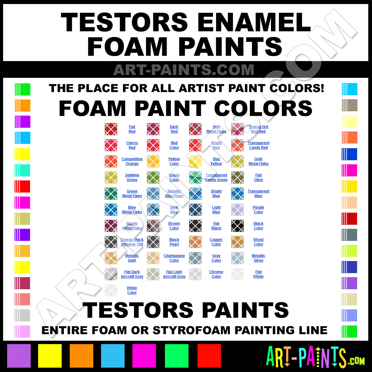 Testors Enamel Foam And Styrofoam Paint Colors Foam Paint Colors