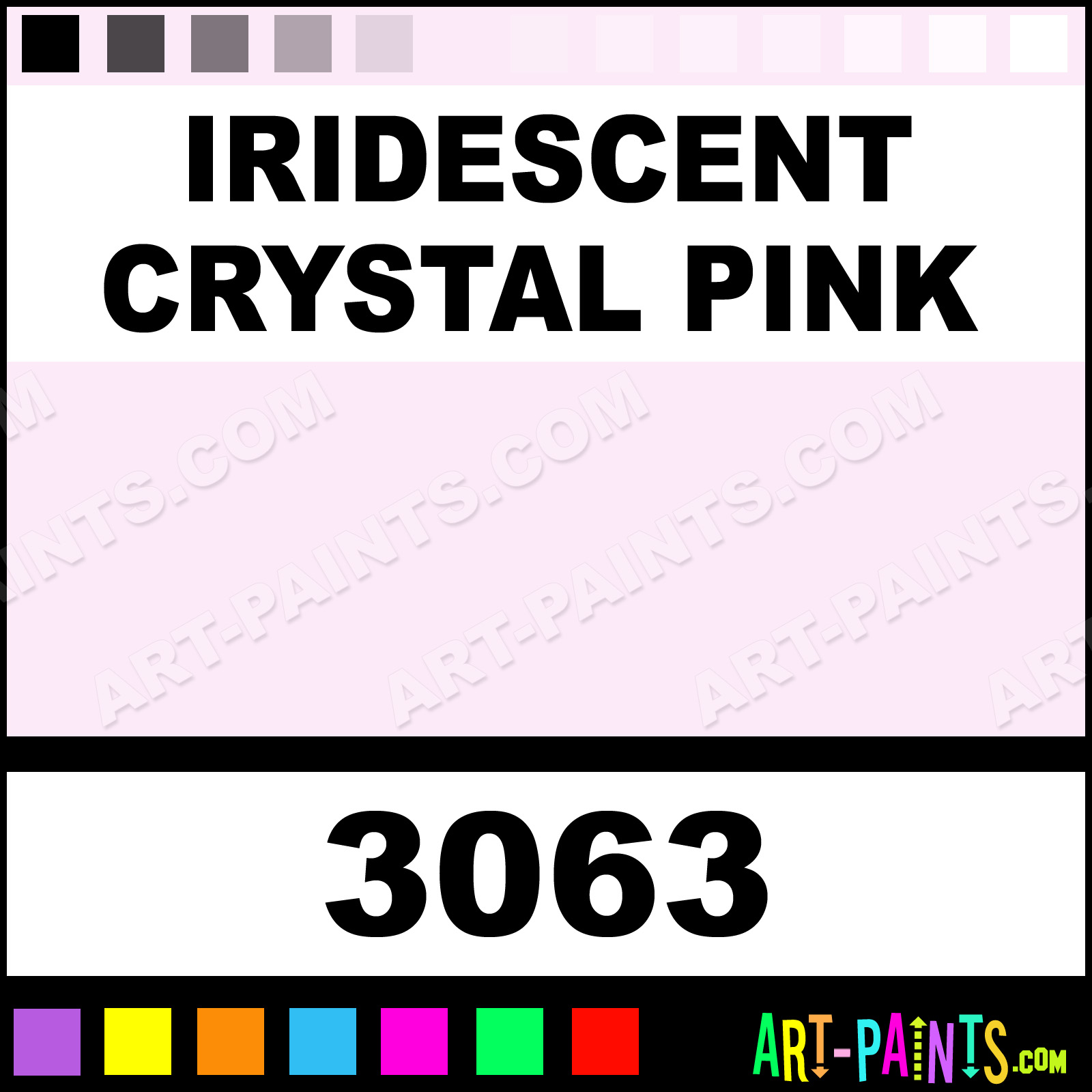 Iridescent Crystal Pink Transparent Stained Glass Window Paints ...