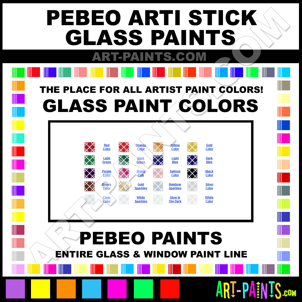 Pebeo arti stick glass and window paint colors stains for Will oil paint stick to glass