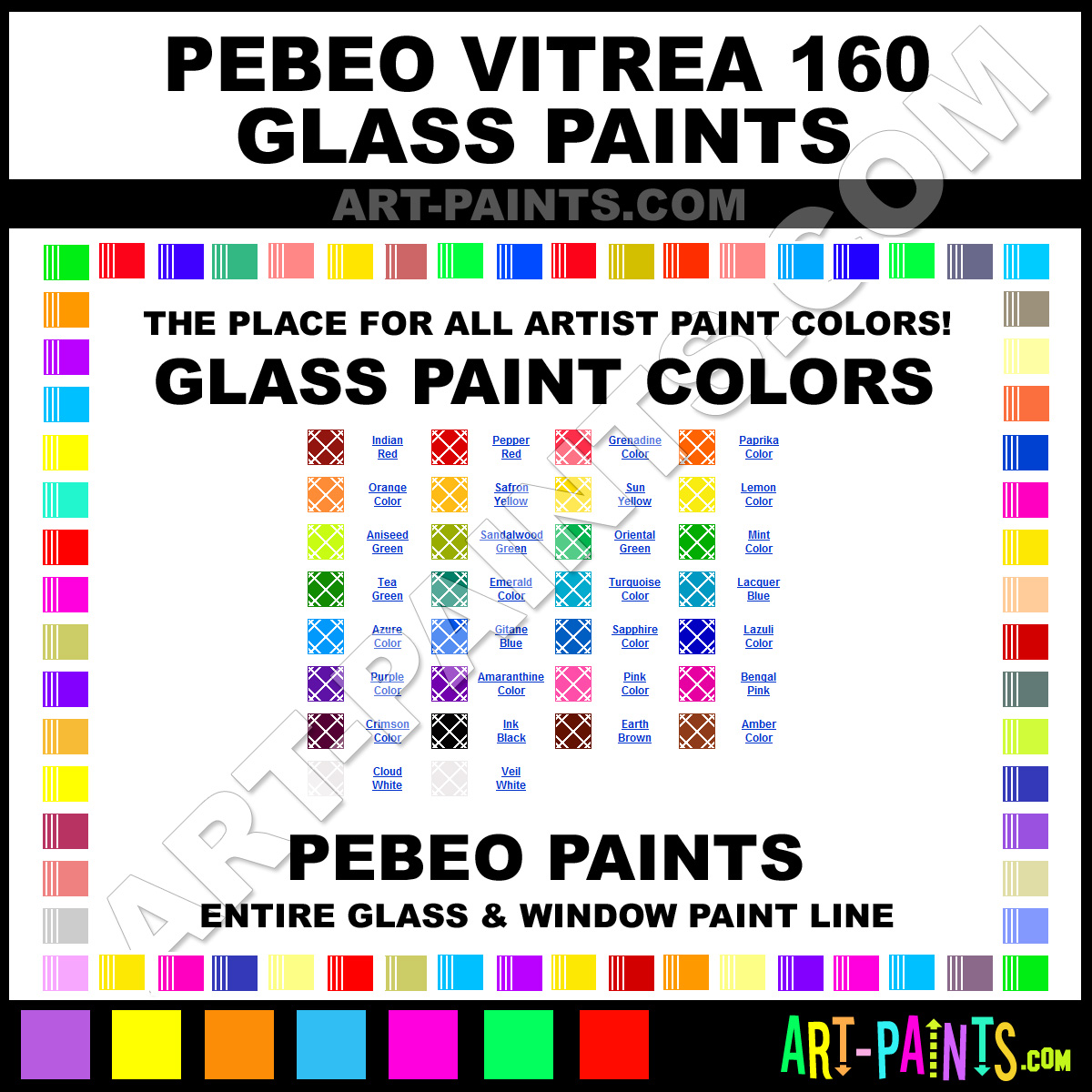 Pebeo Vitrea 160 Glass And Window Paint Colors Stains