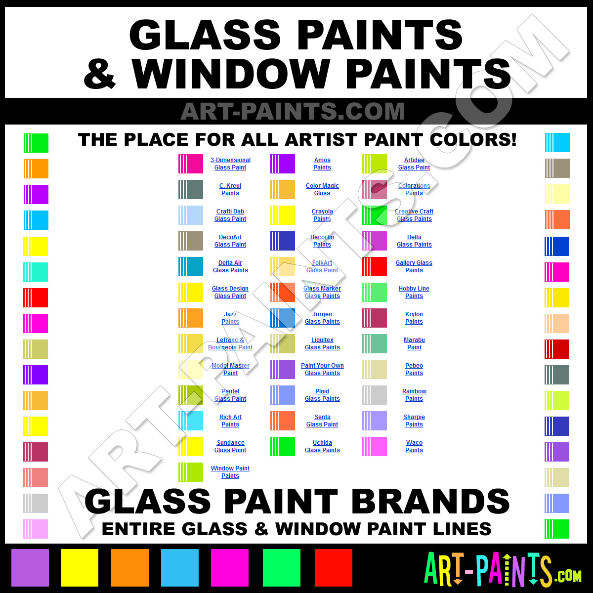 Brands Of Glass Paints