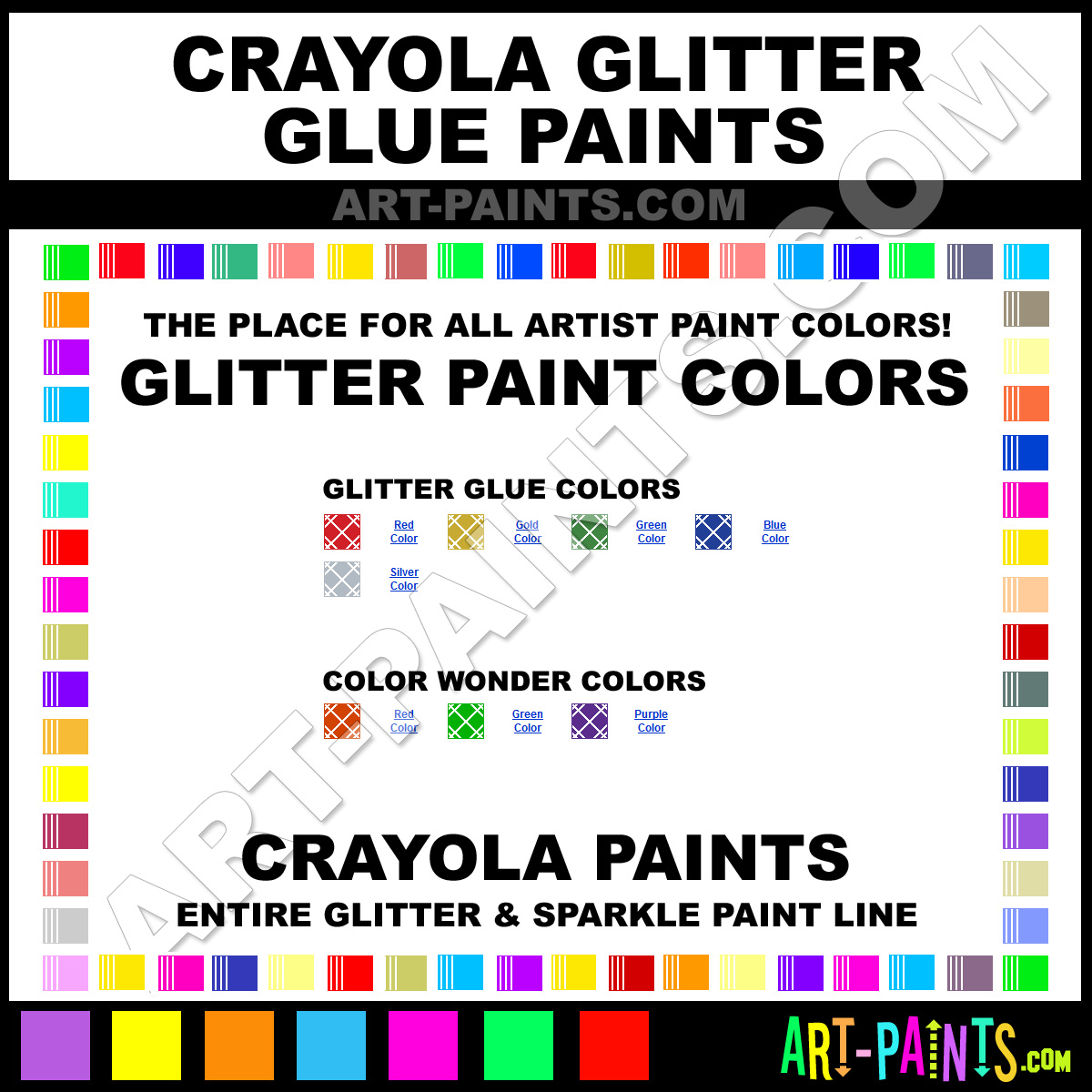 Glitter Glue And Paint Color Inspiration: Crayola Glitter Paint Brands