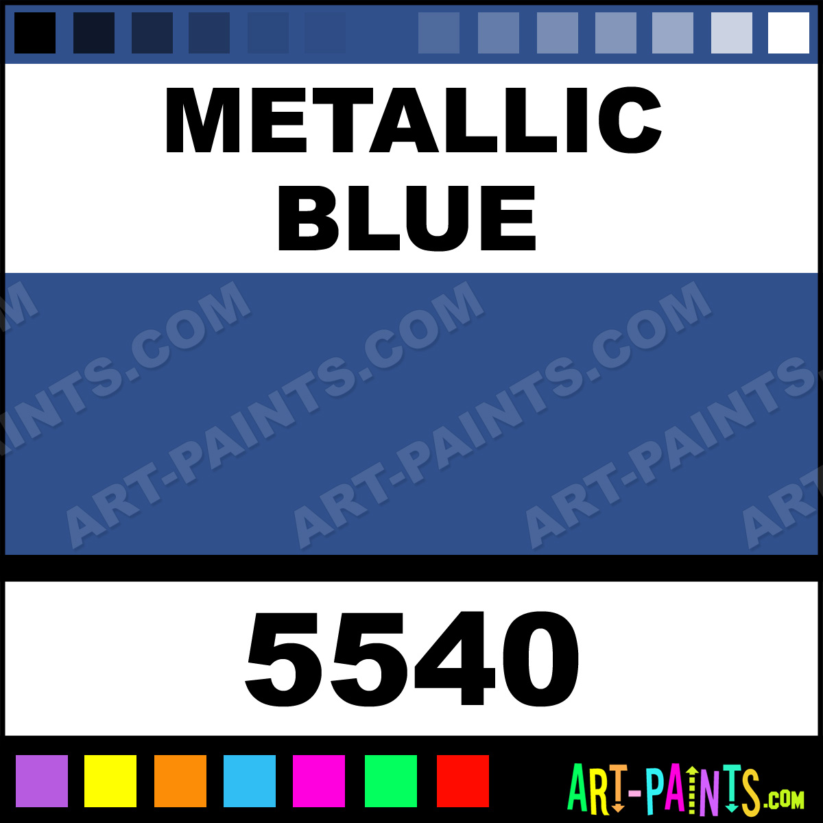 Oil Paint In Metalic Or Iridescent Colors