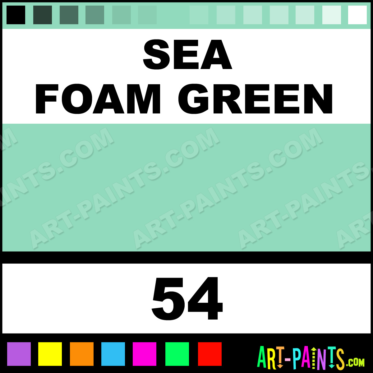 Sea Foam Green Shimmer Glitter Glitter Paints Sparkle Paints Iridescent Paints Shimmers