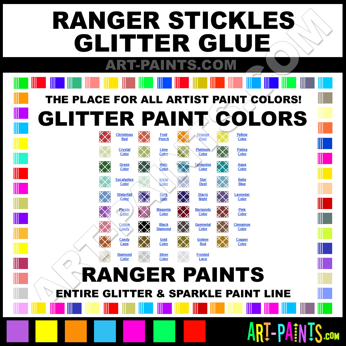 Glitter Glue And Paint Color Inspiration: Ranger Stickles Glitter Glue Glitter Paint Colors