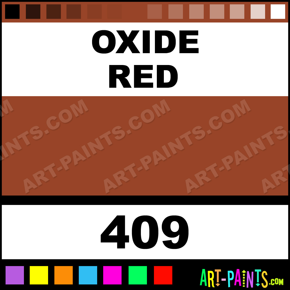 Oxide red classic gouache paints 409 oxide red paint Classic red paint color