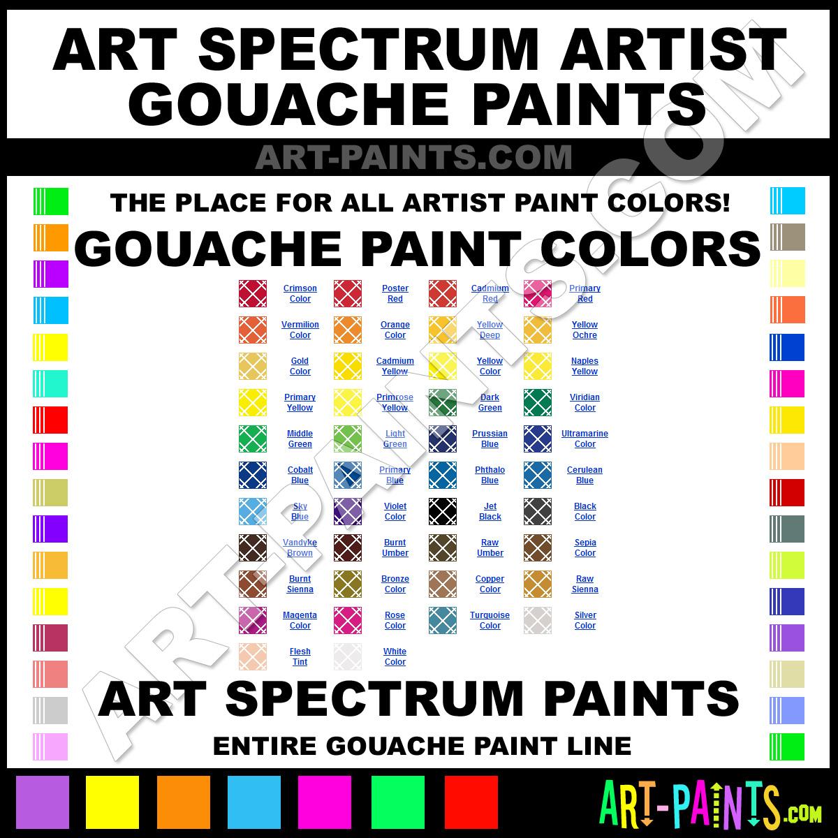 Sepia artists gouache paints bws 8 sepia paint sepia for Paint color spectrum