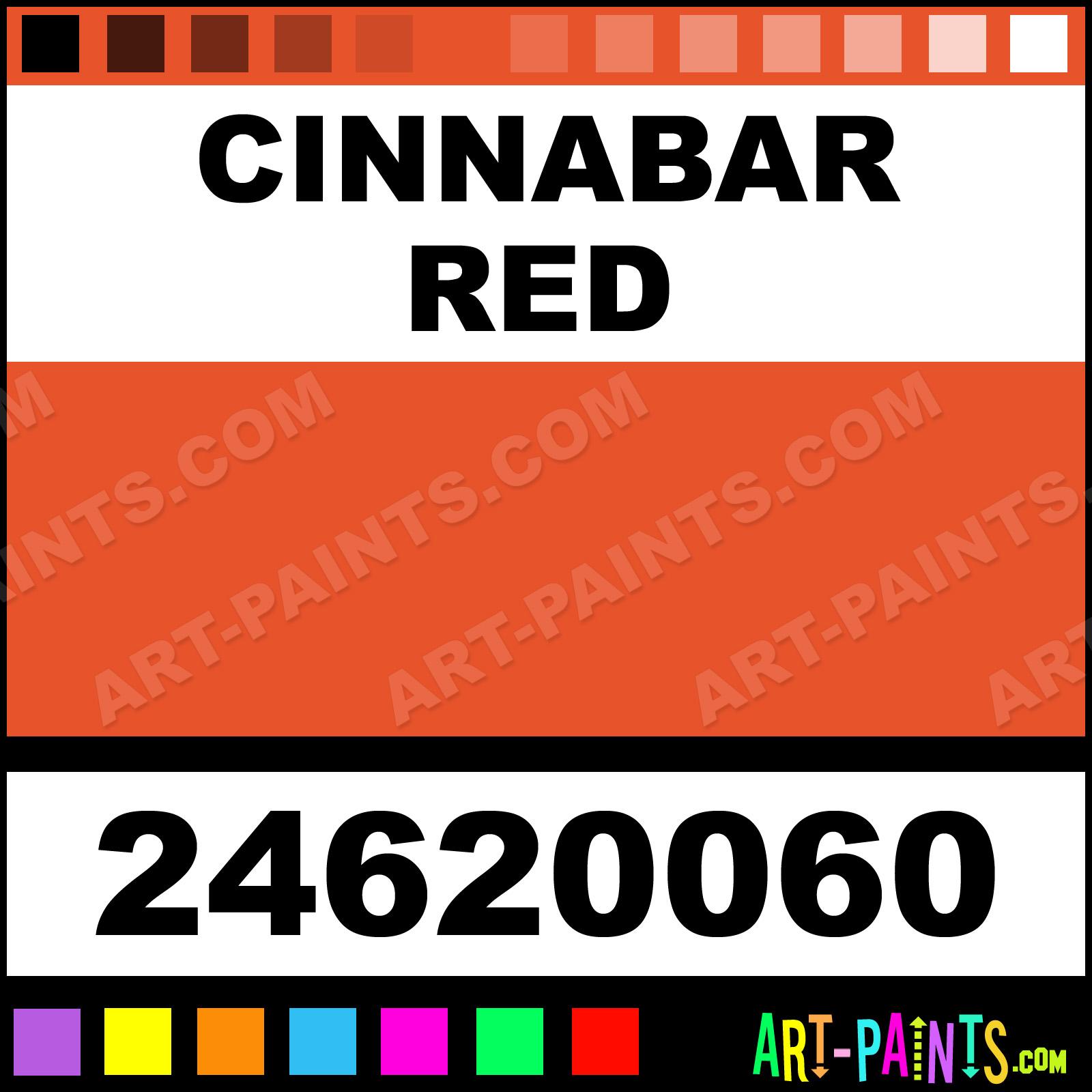 Cinnabar Red Paint
