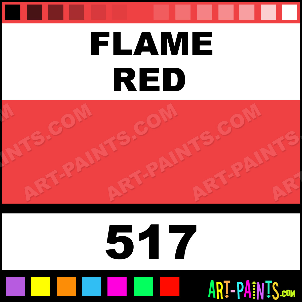 Flame Red Designer Gouache Paints - 517 - Flame Red Paint, Flame Red
