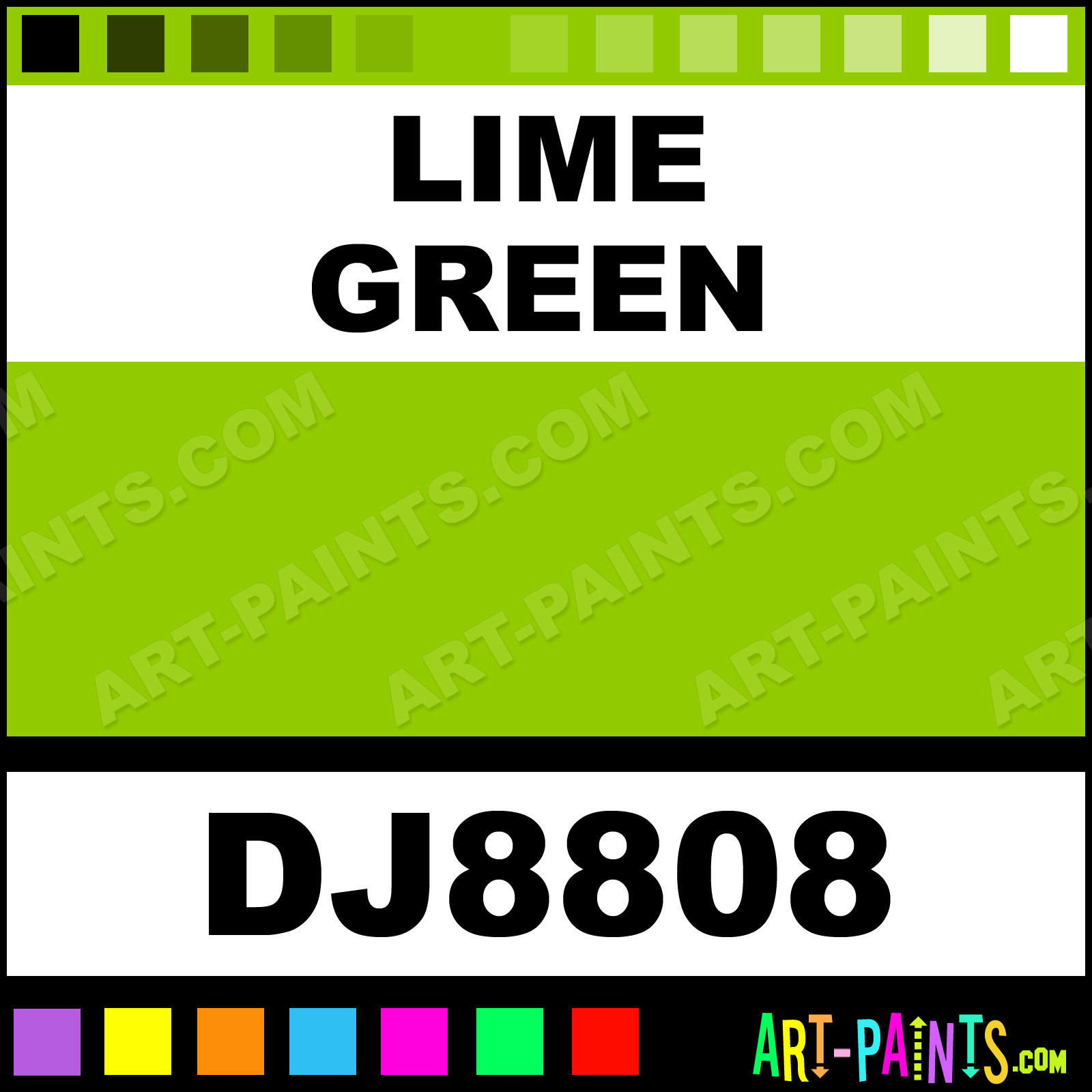 Lime Green Pastel Gouache Paints - DJ8808 - Lime Green Paint, Lime ...