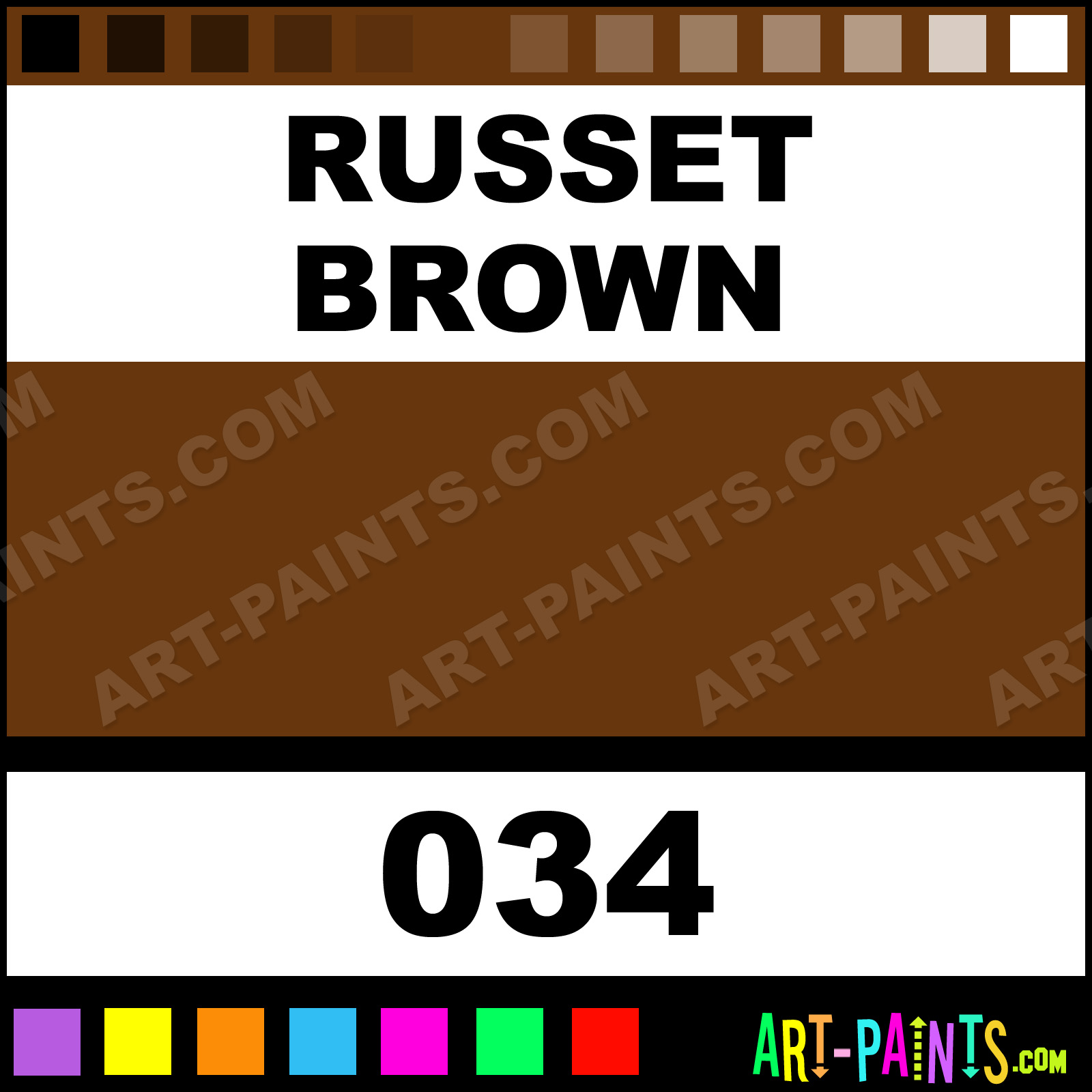 Russet Brown Paint