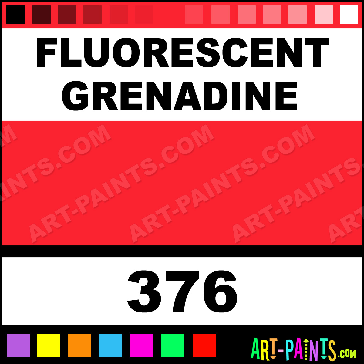 Fluorescent Grenadine Flashe Vinyl Gouache Paints 376