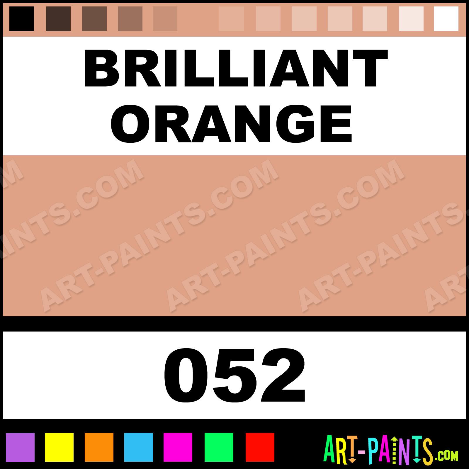 Brilliant Interior Paint Color Schemes: Brilliant Orange Extra Fine Gouache Paints