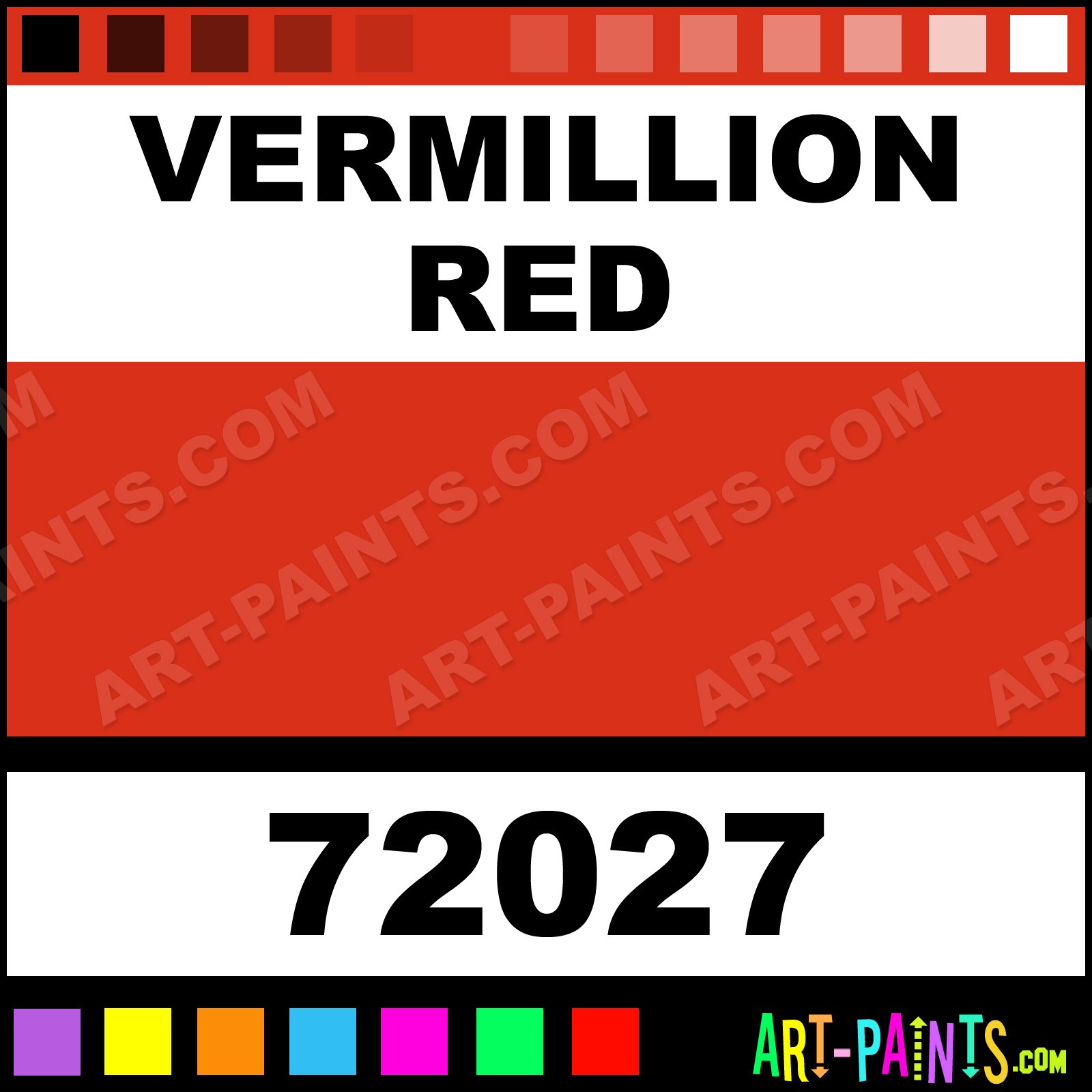 Vermillion Red Paint