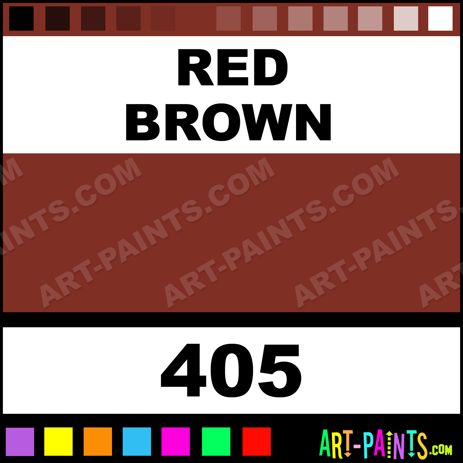 Red Brown Artist Gouache Paints 405 Red Brown Paint Red Brown