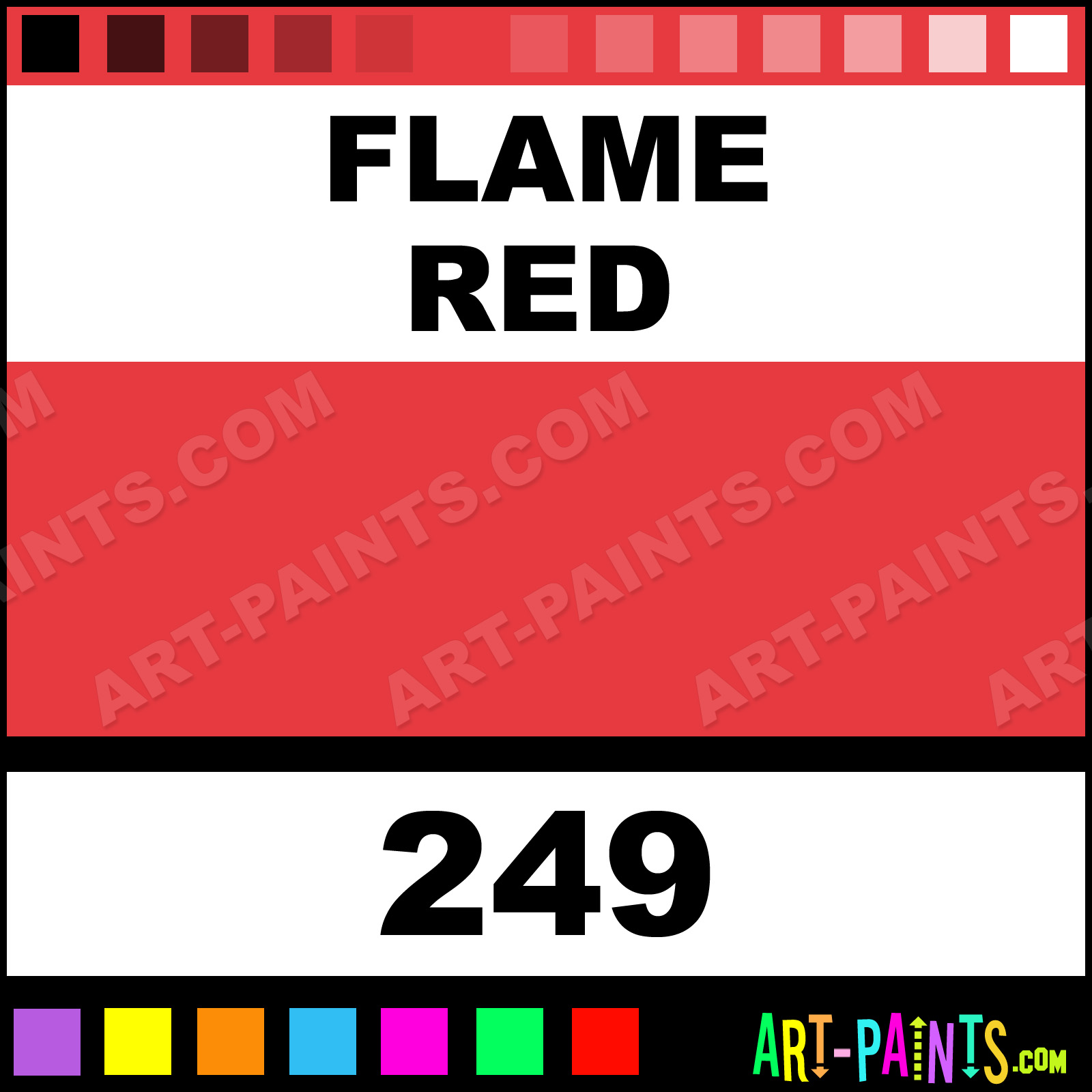 Flame Red Designers Gouache Paints 249 Flame Red Paint