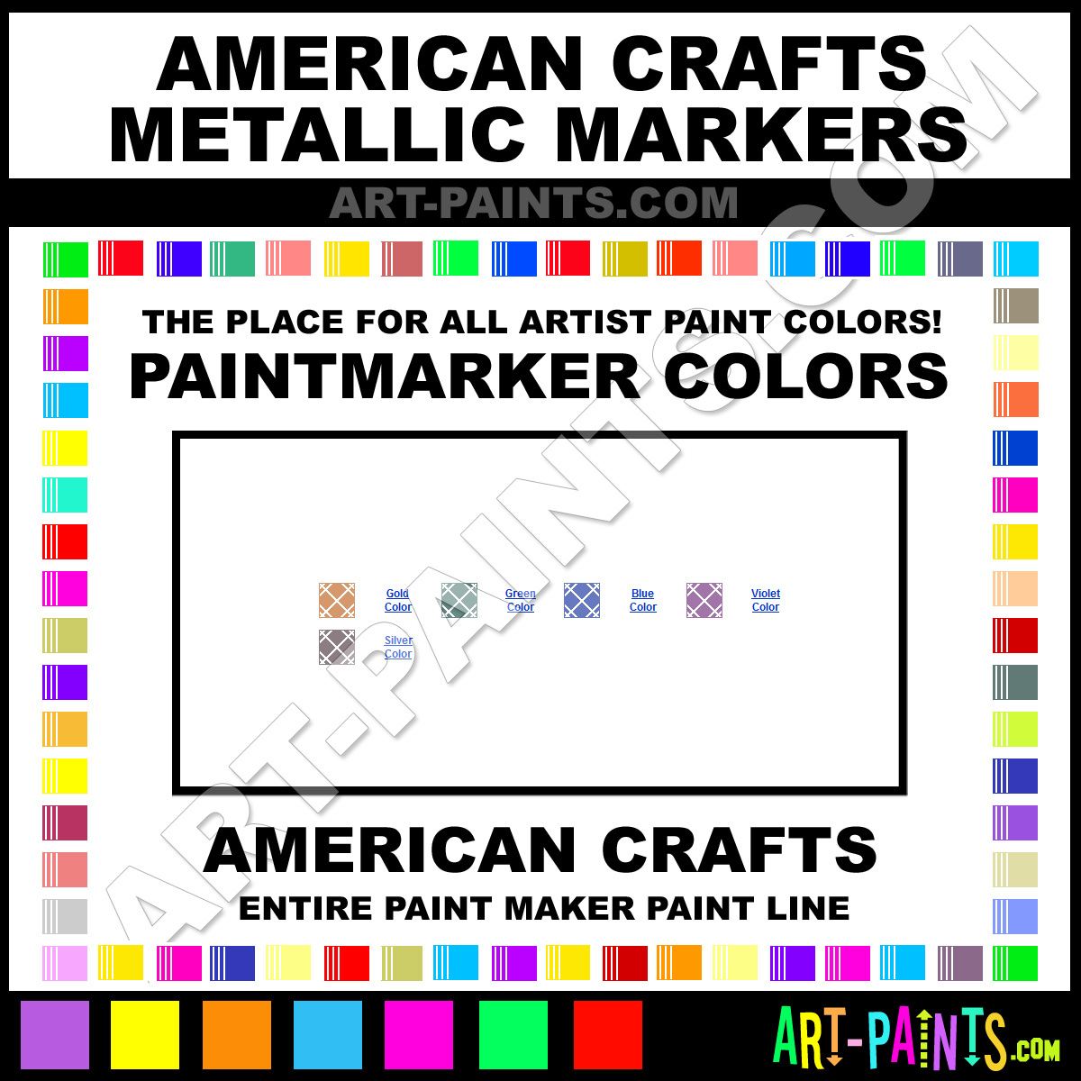 american crafts glitter markers value pack in carrying case pictures