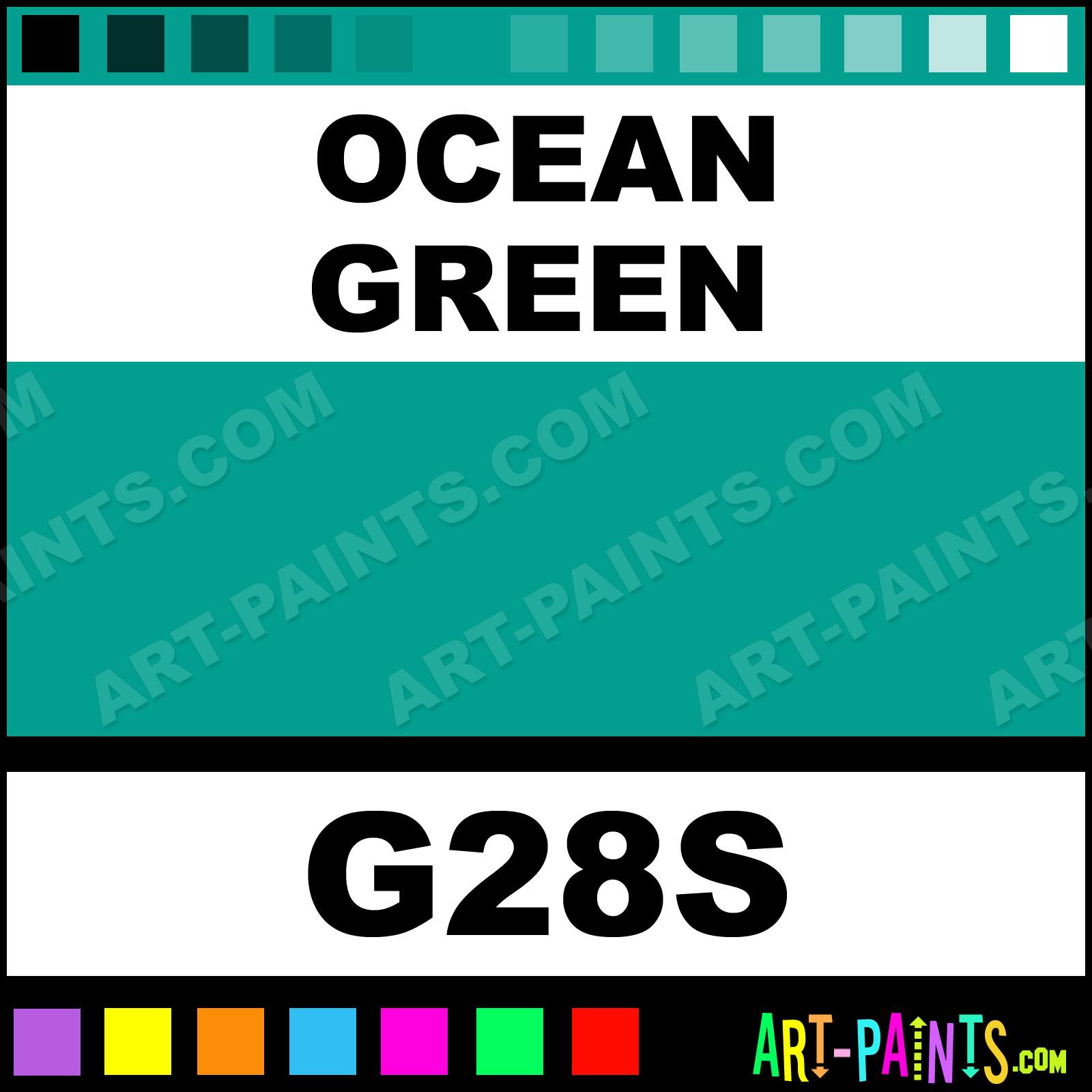 Ocean Green Paint