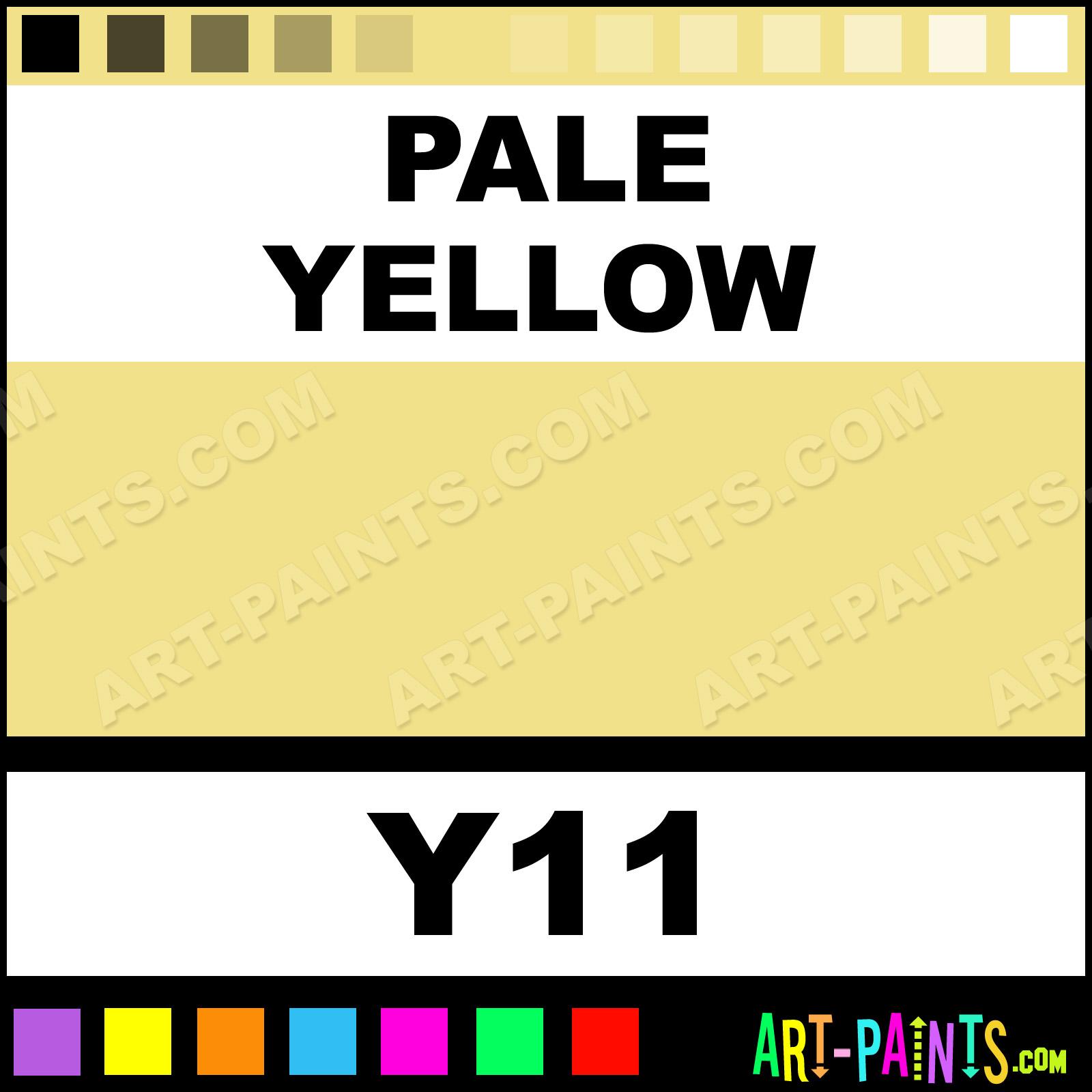 Pale Yellow Sketch Paintmarker Marking Pen Paints Y11