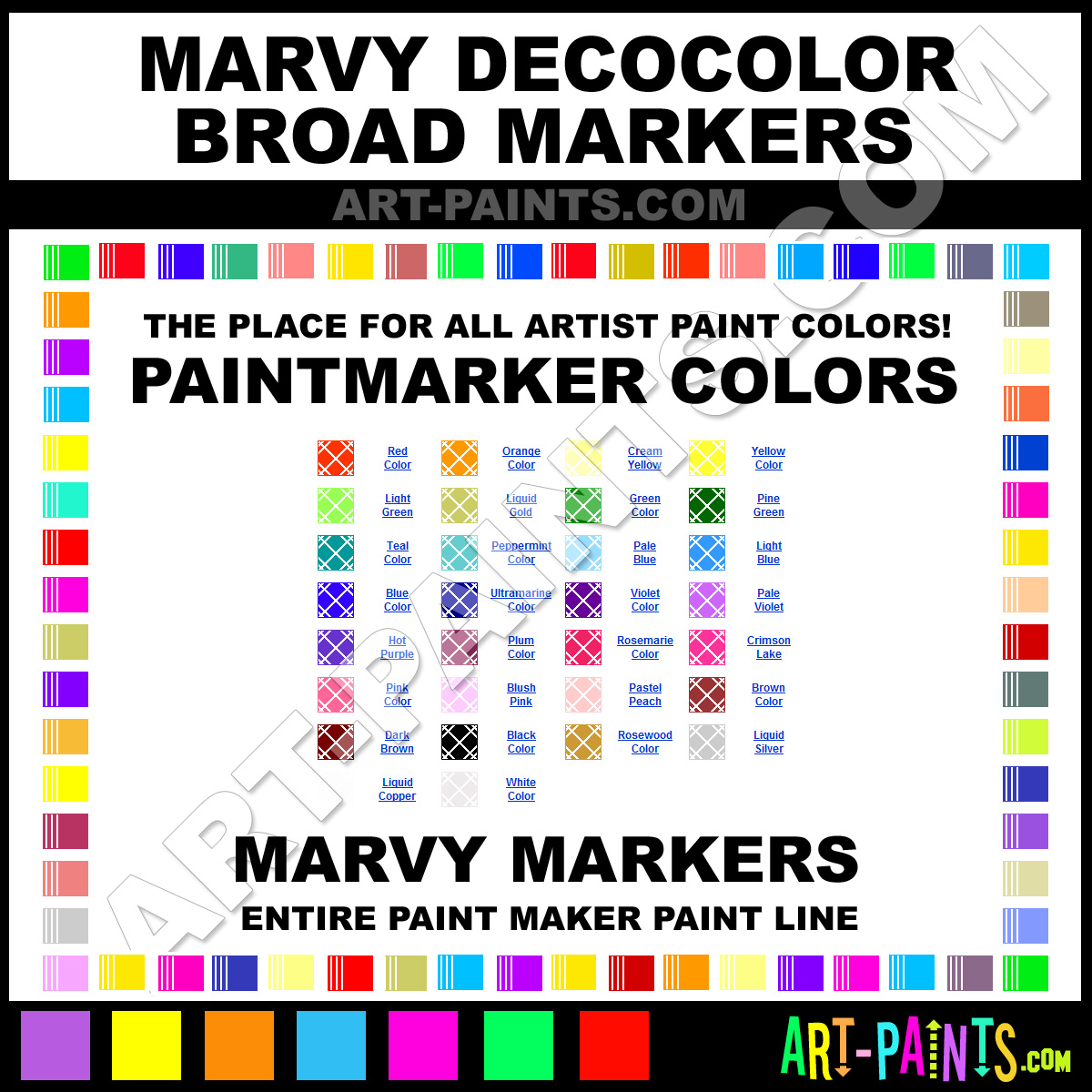 Marvy DecoColor Broad Markers - Marvy DecoColor Broad Paints