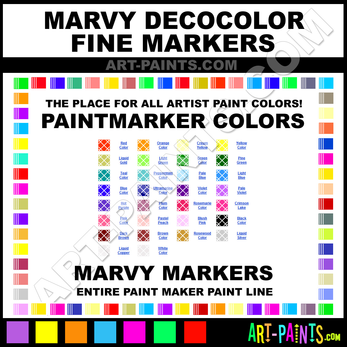 11 Pastel Paint Colors: Pastel Peach DecoColor Fine Paintmarker Marking Pen Paints