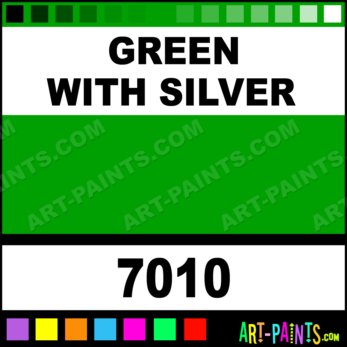 green with silver outline paintmarker marking pen paints