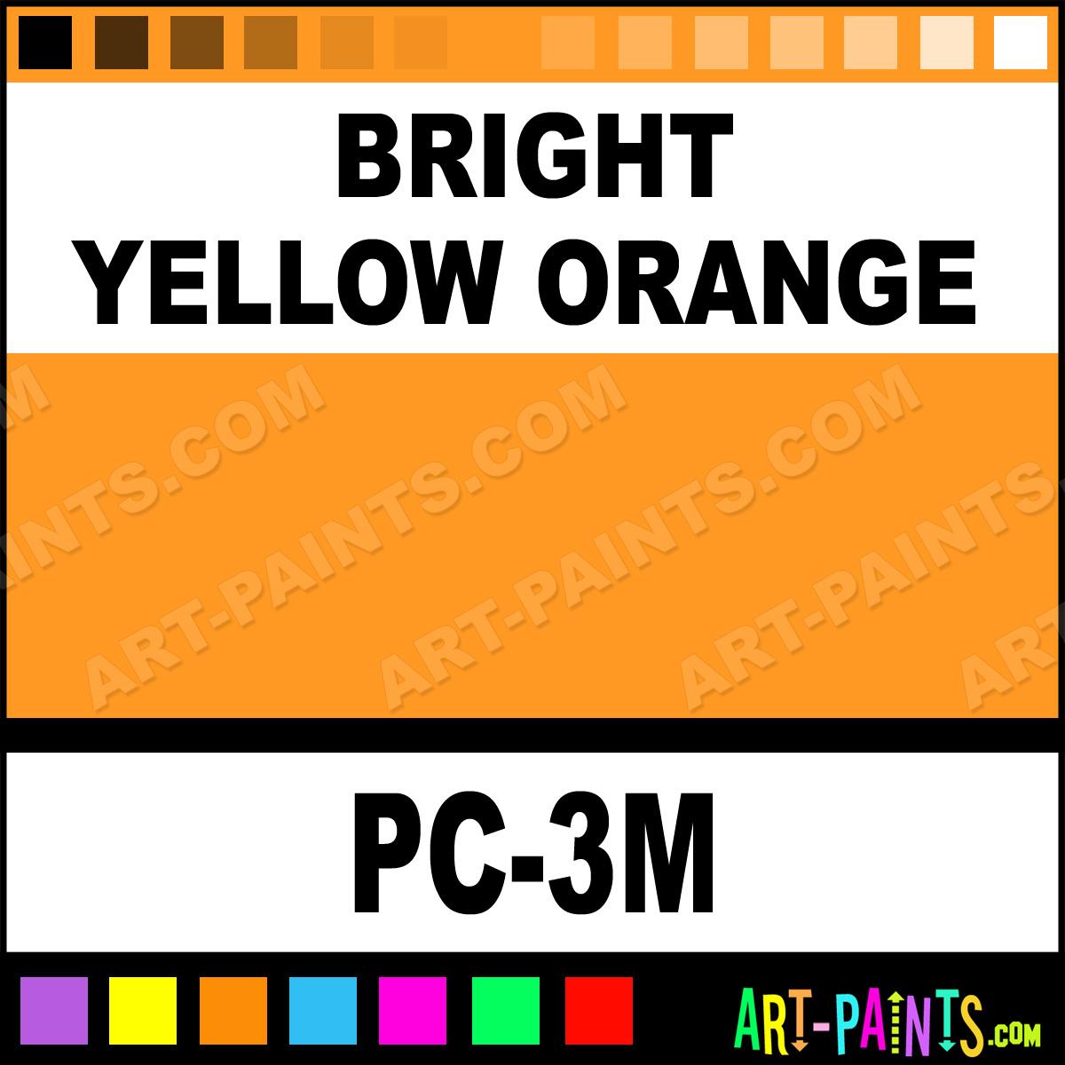 Bright Yellow Orange Fine Paintmarker Marking Pen Paints