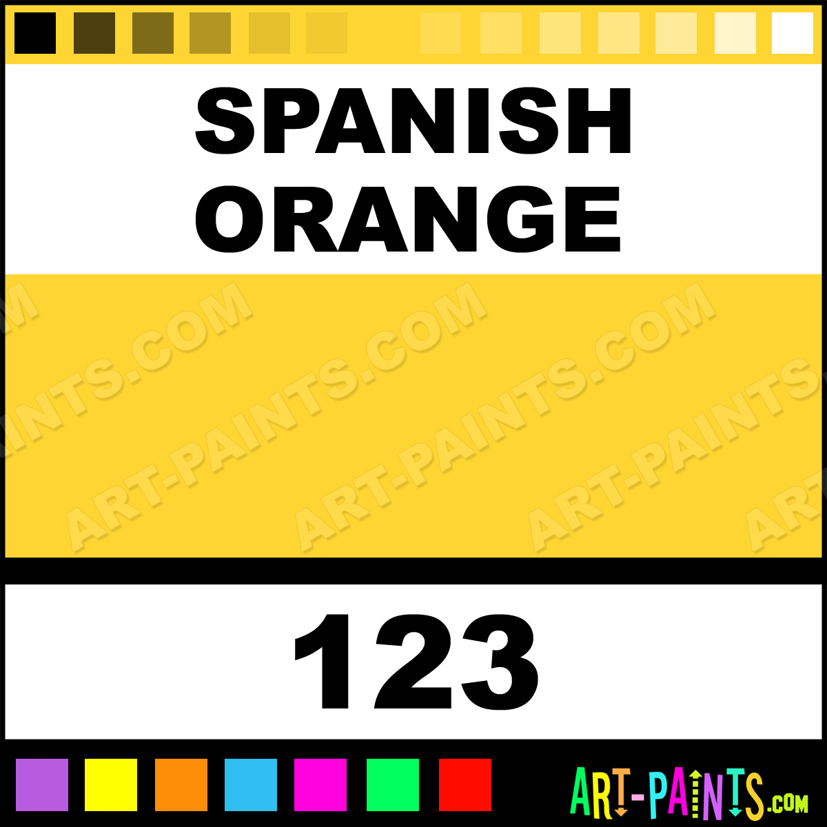 how to write the color gold in spanish