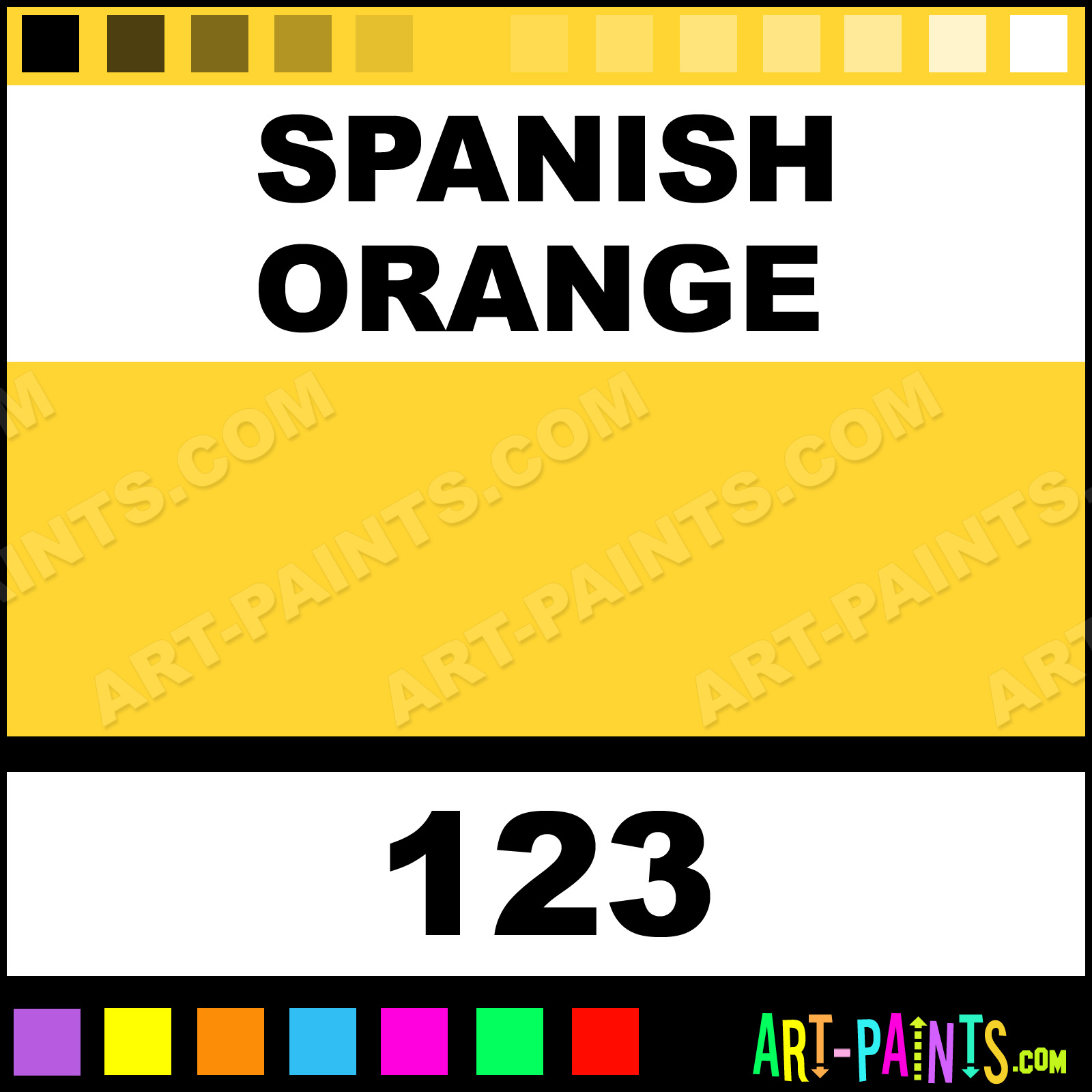 Spanish Orange Four In One Paintmarker Marking Pen Paints 123