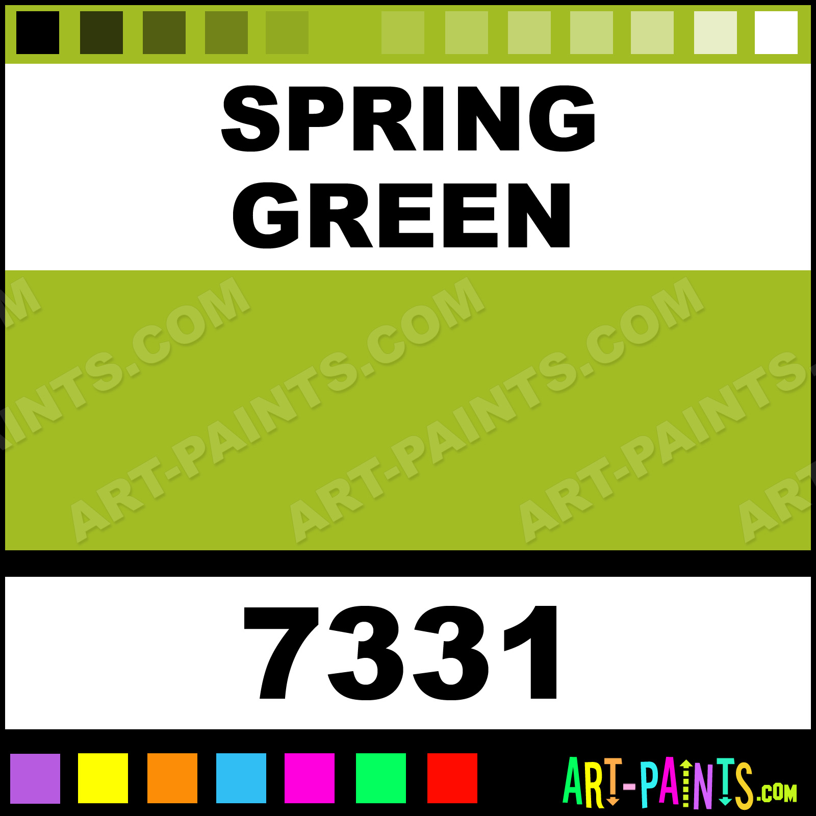 Spring Green Color Calligraphy Paintmarker Marking Pen Paints 7331 Paint Zig